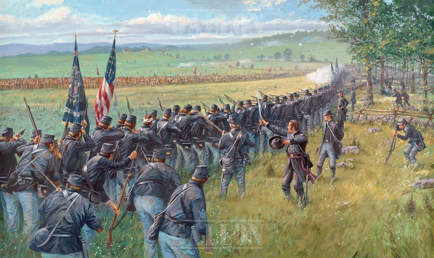 Fighting On The Ridges Gallon Historical Art