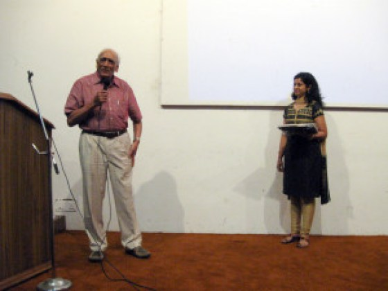 Receiving an Award for Architectural Journalism