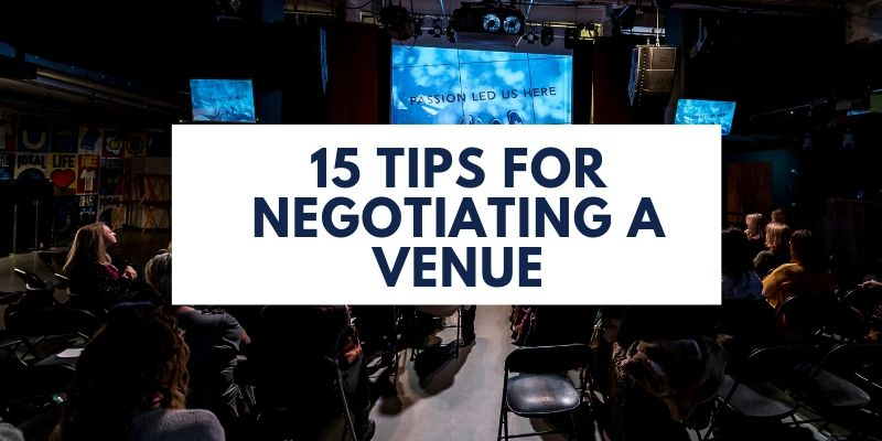 great tips for negotiating a venue