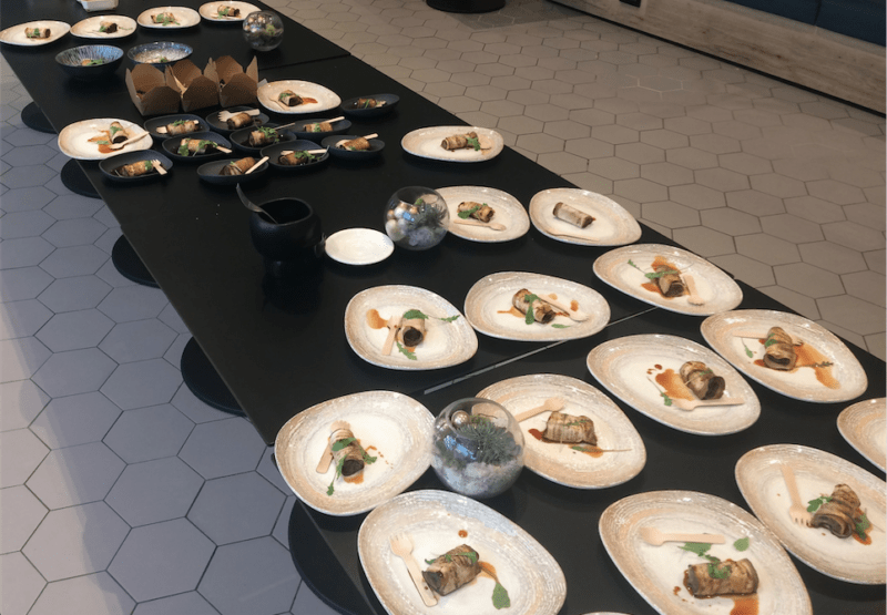 sustainable vegan menus at events