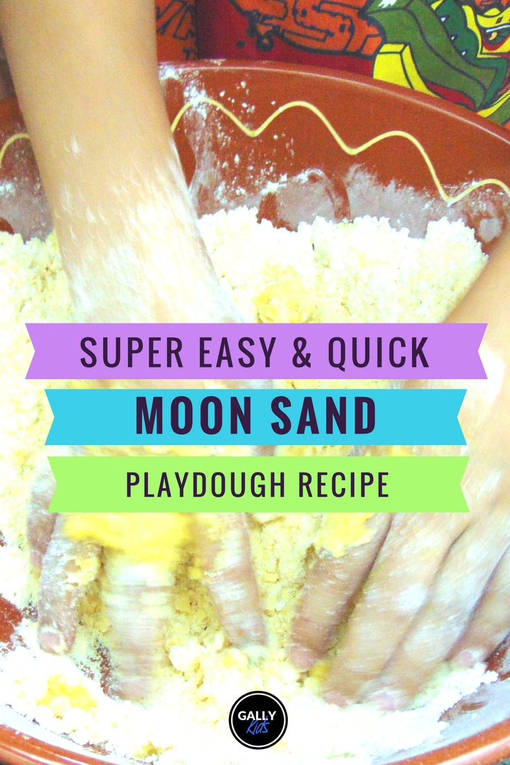 Moon Sand Recipe you can easily do yourself.