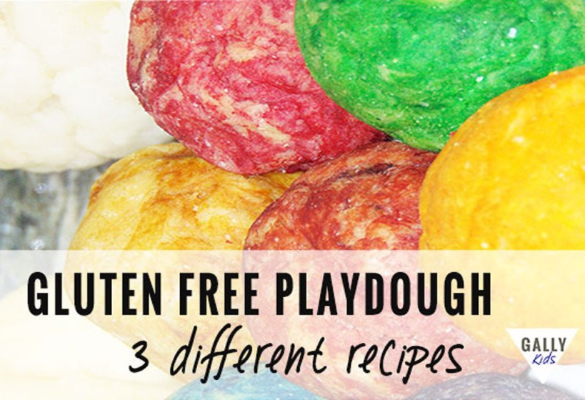 Gluten free playdough recipe in 3 ways:. Best recipe that makes soft and pliable playdough. lasts for a long time. via @gallykids