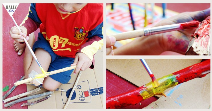 Twig Mobile Craft for kids