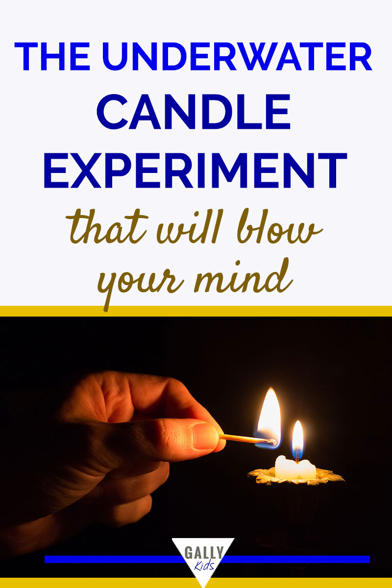 Underwater candle experiment - a submarine candle? An experiment on how to keep a candle burning under water.