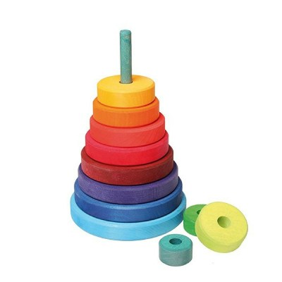 Colorful wooden stackers for babies.