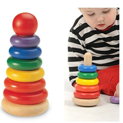 Wonderworld Stacking ring. Colorful and fun. Big for baby's small hands.