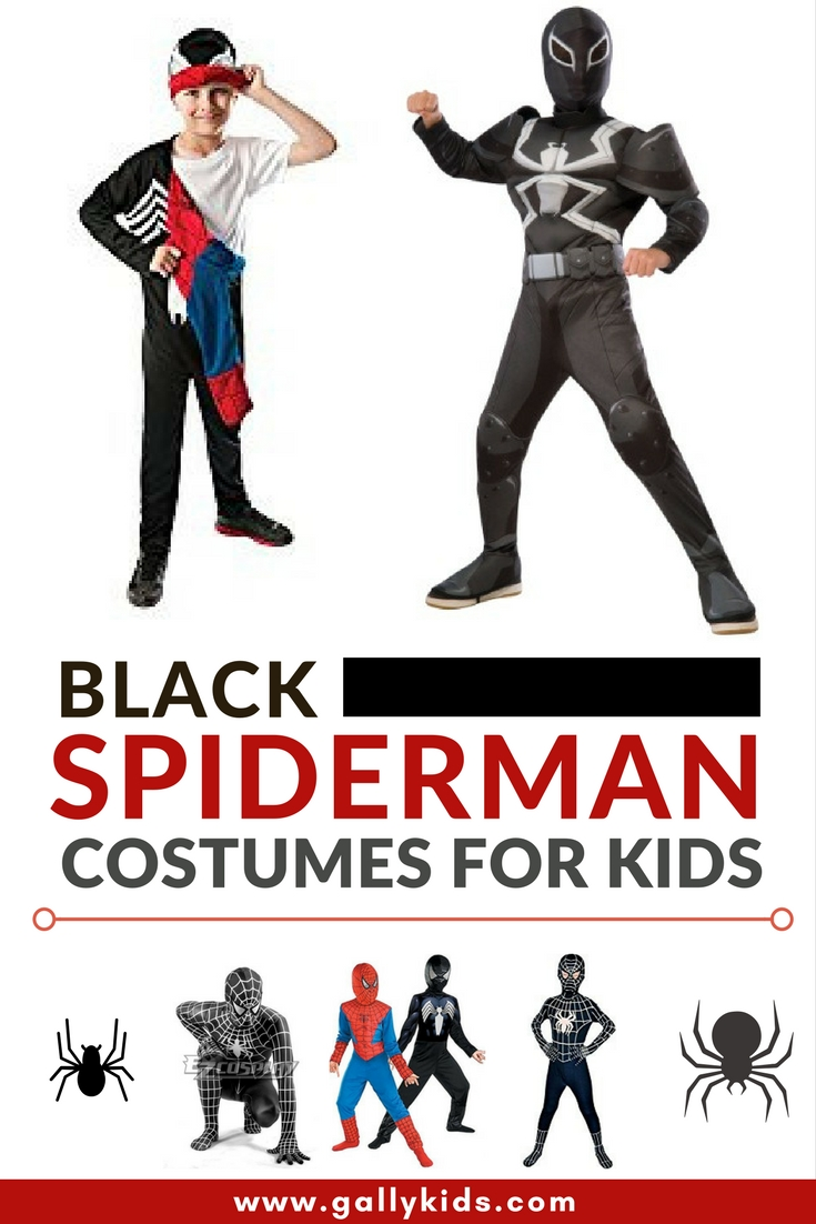 Some of the best designs for a black Spiderman costume for kids. Looks very realistic  sc 1 st  Gally Kids & Ideas for The Best Black Spiderman Kids Costumes