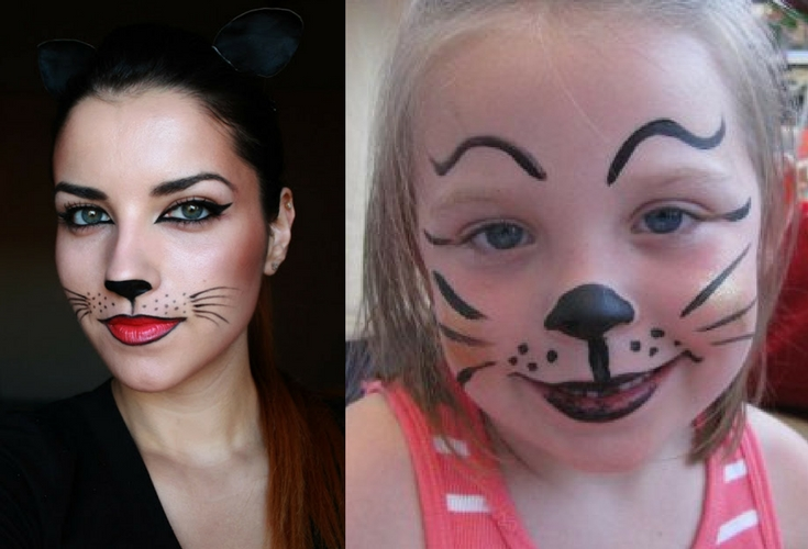 2 Different ways to face paint a catface
