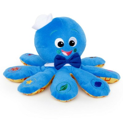 Baby Einstein Octoplush Toy. Apart from being a cuddly toy musical plush toy, this also plays some tunes and teaches babies colors.