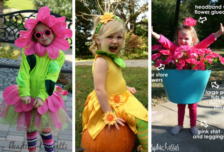 Ideas for pretty and easy flower costumes for kids this halloween reading confetti costume works duke and duchesses mightylinksfo