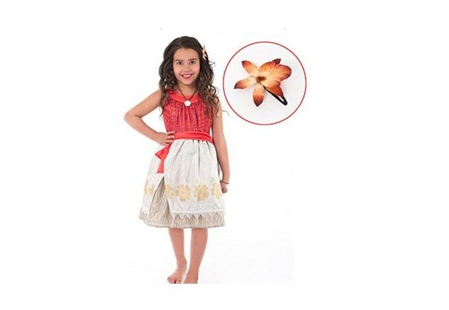 Cute Moana costume for kids that can be used for everyday wear. Sizes available: 1 year old to 9 years old