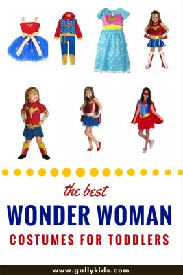 11+ of the best Wonder Woman Costumes For Toddlers. Choose which one is best for your little one.  Pick a complete set or just mix and match. Perhaps a tutu dress would be best or a t shirt with a cape?