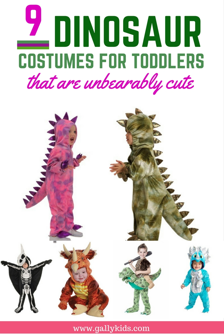 Cute Dinosaur Costumes Toddler Sizes: 2T, 3T and 4T are available for these types of dinosaur costumes. Some very cute ones of different colors.