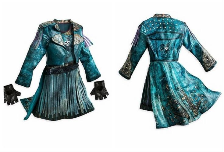 The Disney version of Uma costume in Descendants 2. Love the jacket! Includes dress, jacket, gloves.
