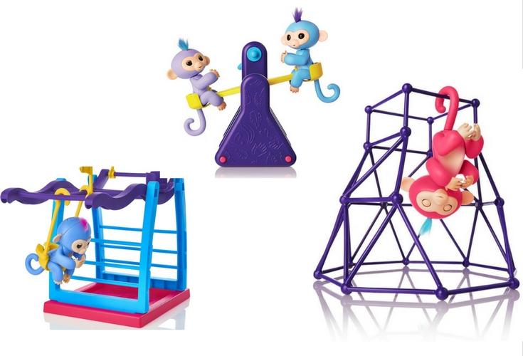 Three Fingerlnigs playset plus baby monkey combo.