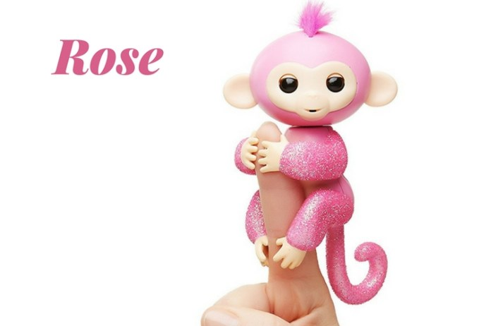 Rose Fingerling toy. Amazon exclusive, all glittery toy in pink.