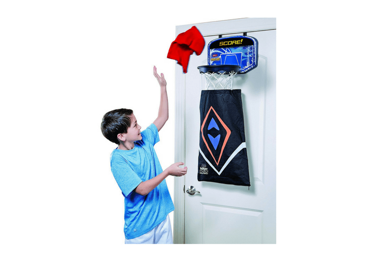 Putting laundry away just got exciting with this Hamper hoops. And parents are much happier too.