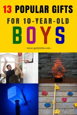 Unique and perfect gift ideas for 10 year old boys. Ideas for boys who like sports, science toys, robotics and more