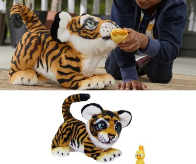 FurReal tiger robot. A companion for life. This fluffy tiger robot is adorable. Responds to touch .