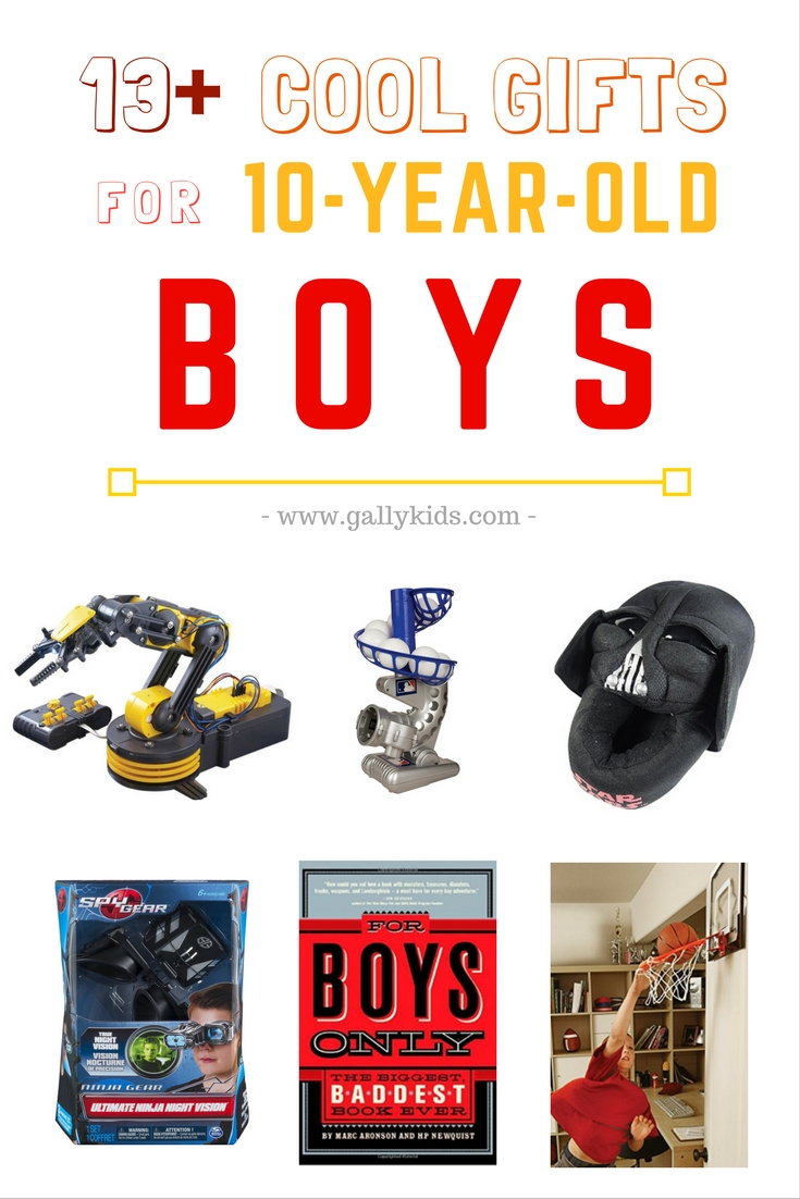 Surprise your 10 year old boy with these unique gift ideas. List of toys, gadgets and other items great for birthdays or christmas presents