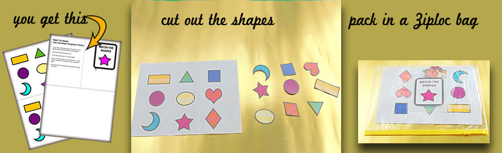 Is your child just learning how to identify shapes? Here's a puzzle template for making shape identification more fun for little ones.