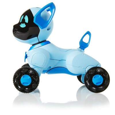 "Choose from pink, blue or black. These puppy robot toys on wheels can do a lot of things and is a lot of fun for toddlers and preschoolers to play with - It's just like having a little pet- except you don't have to feed it! Your child can even take it for a ""walk"""