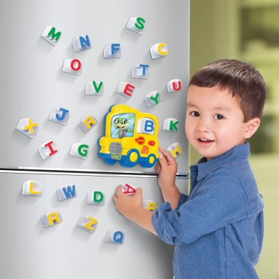 Alphabet Fridge phonics. What a fun way for 2 year old boys to learn the alphabets. This is also a great entertainment for young toddlers especially when you're cooking in the kitchen and you need him to be occupied with something else while you're busy doing dinner.