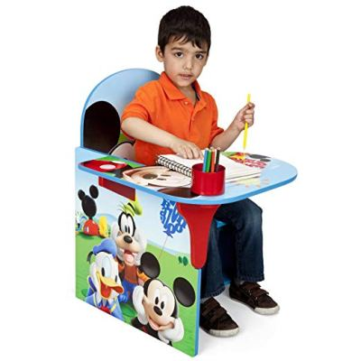 A great toddler gift idea - This Mickey Mouse chair and desk can be used for art work or for eating snacks.  2 year old boys also love having their own table that they can call their own. Of course, a picture of Mickey Mouse and other Disney characters is an added bonus.