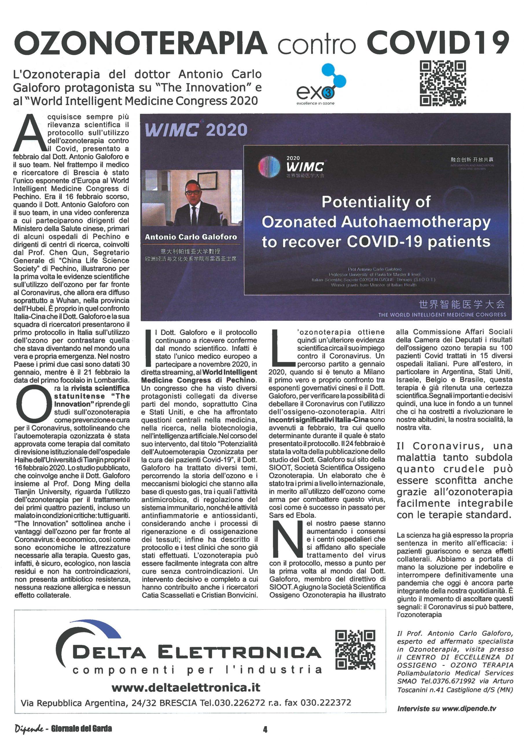 articolo ozonoterapia contro covid19