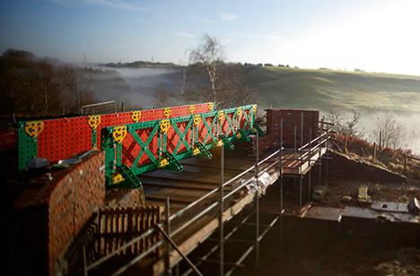 Painted steel bridge