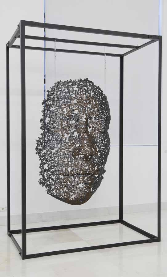Silencio Manuel Martí Galvanized Bolts Sculpture