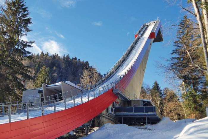 Heini-Klopfer ski jump in Oberstdorf Germany
