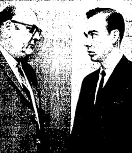 Thomas Pittman (right) and his lawyer, L.J. Krueger. (Photo by Linda Westerlage/The Galveston Daily News)