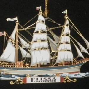 Elissa 2.5D Brass Ornament