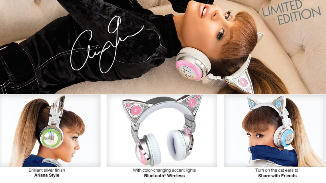 f27f24869f88 Ariana Grande Teams Up with Brookstone to Release Her Own Wireless Cat Ear  Headphones