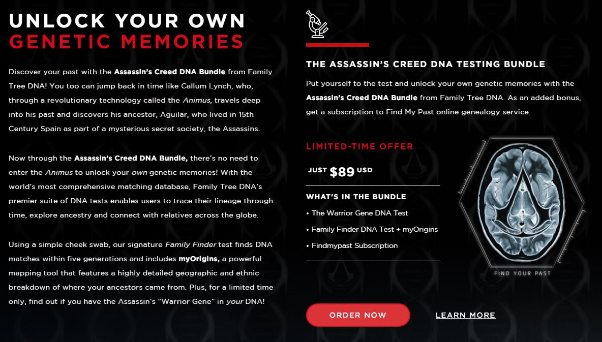 Family Tree Dna And The Assassin S Creed Movie Ask If You Have