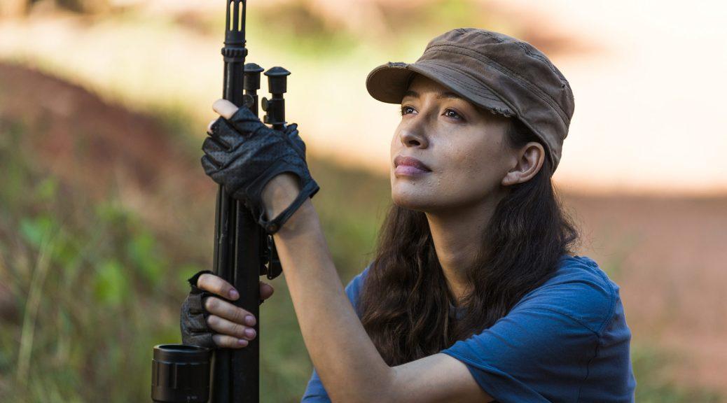 Christian Serratos as Rosita Espinosa- The Walking Dead _ Season 7, Episode 14 - Photo Credit: Gene Page/AMC