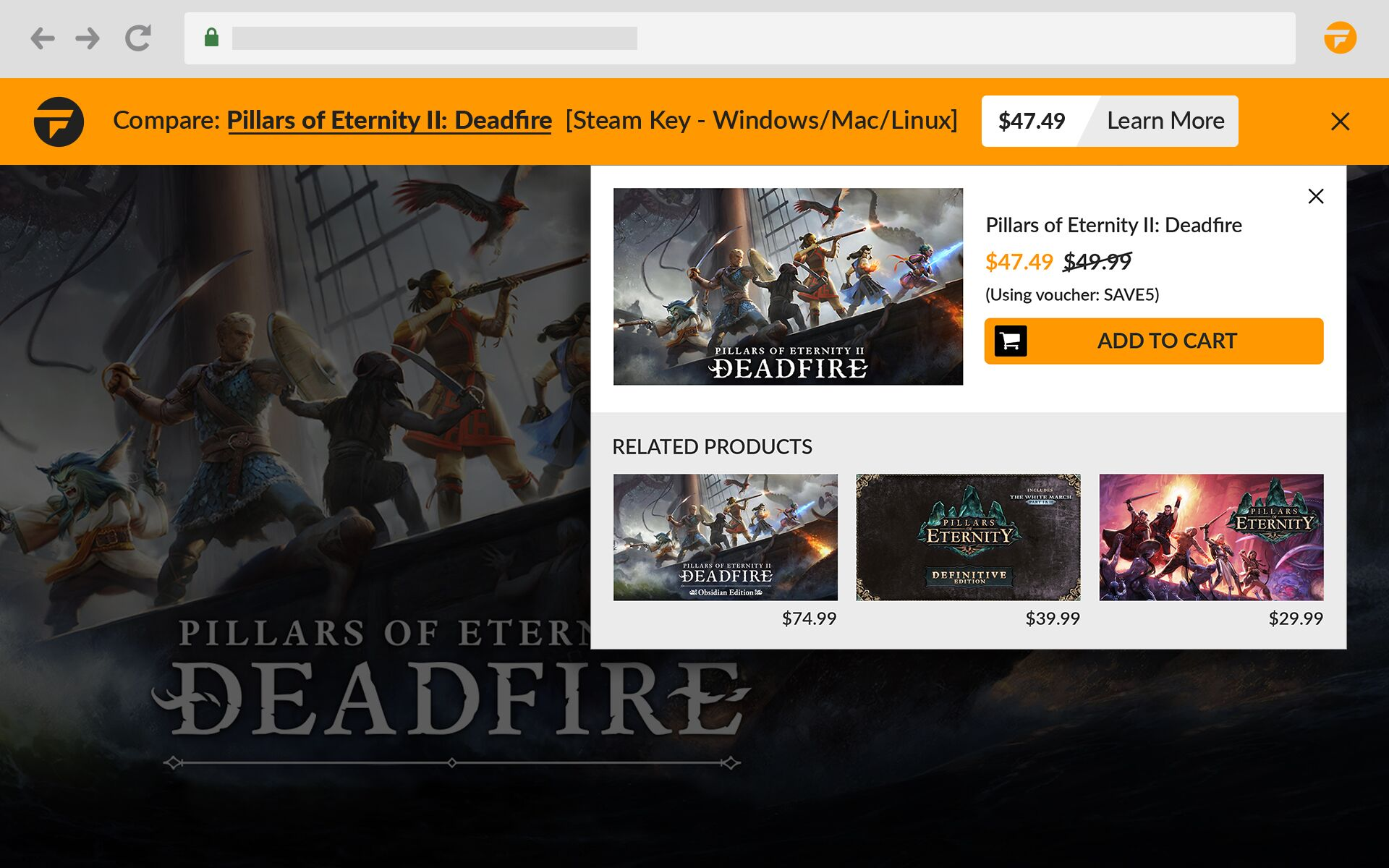 Fanatical Assistant browser extension helps track down Steam