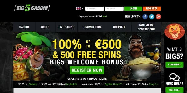 big 5 casino online. big5casino
