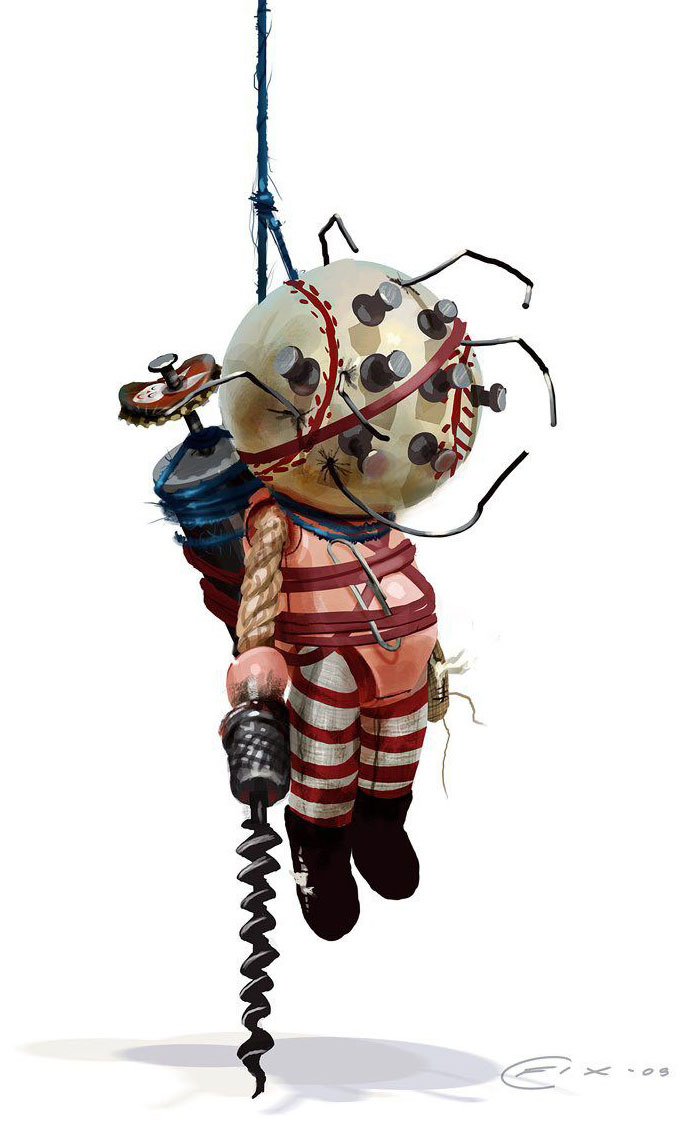 Big daddy doll official render from bioshock 2 for Big daddy s antiques