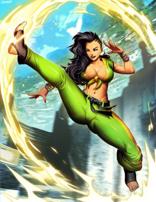 Laura Street Fighter V Art by Genzoman