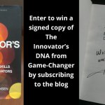 Enter to win a signed copy of The Innovator's DNA from Game-Changer