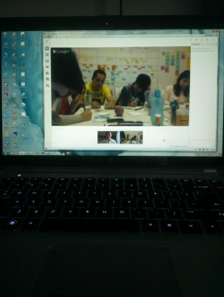 Innovation Workshop through Google Hangouts
