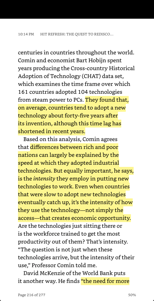 diffusion of technology economic opportunity