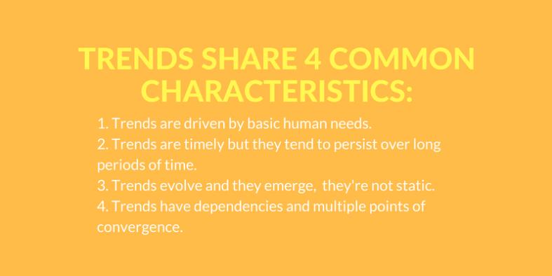 Trends share 4 common characteristics