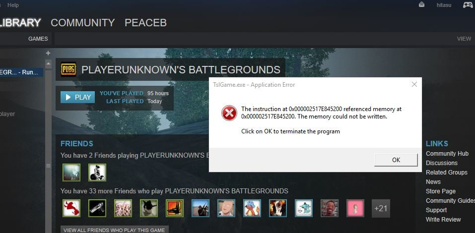 Pubg Tslgame Exe Application Error Playerunknowns Battlegrounds
