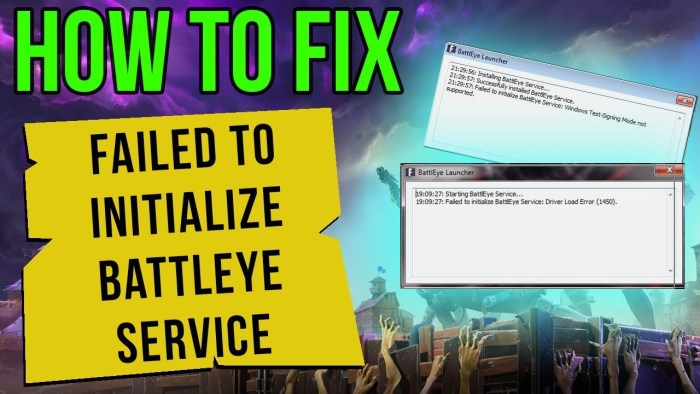 How to fix failed to initialise Battleye Service: Generic