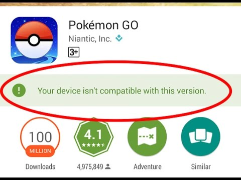 """""""Device not compatible"""" error message in Google Play Store"""