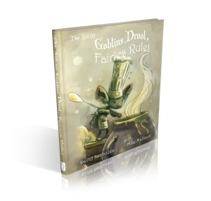 "Concept render of ""The Art of Goblins Drool, Fairies Rule!"" hardcover book"