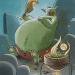 """Goblins Drool, Fairies Rule!"" goblin - Big Big Belly"